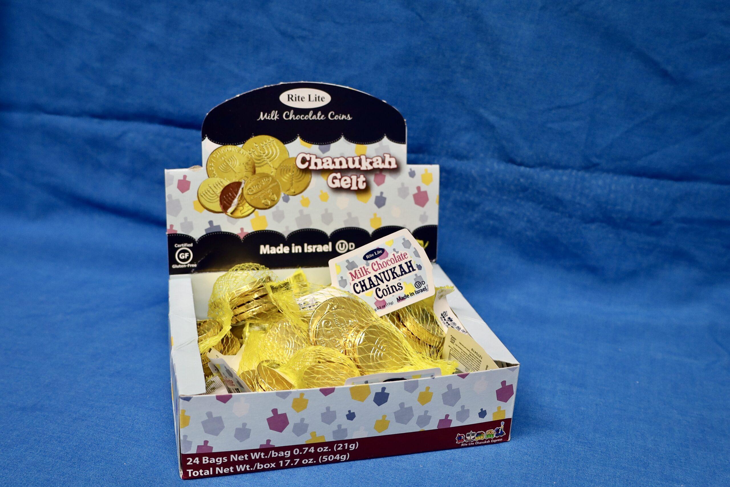 Hanukkah gelt $1 each bag (24 available)