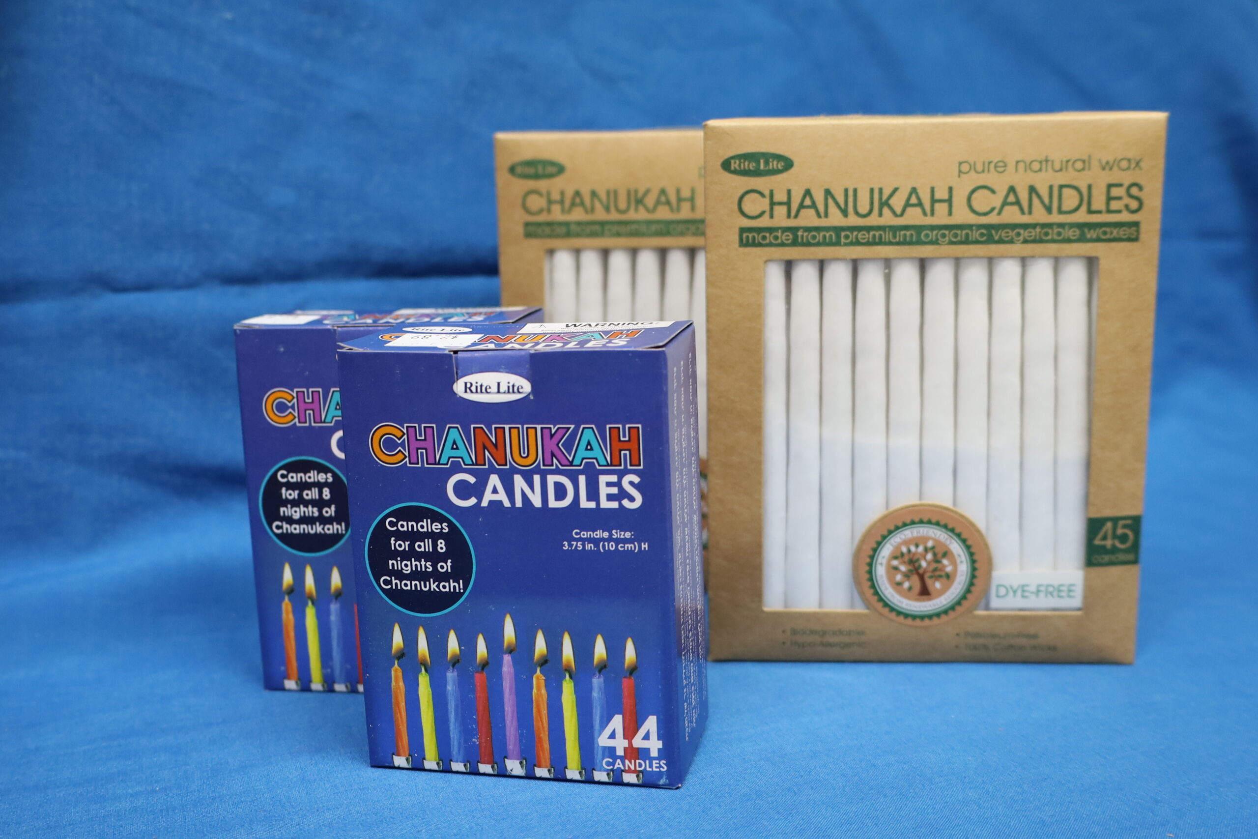 White Candles $12/box Multicolored Candles $2.89/box