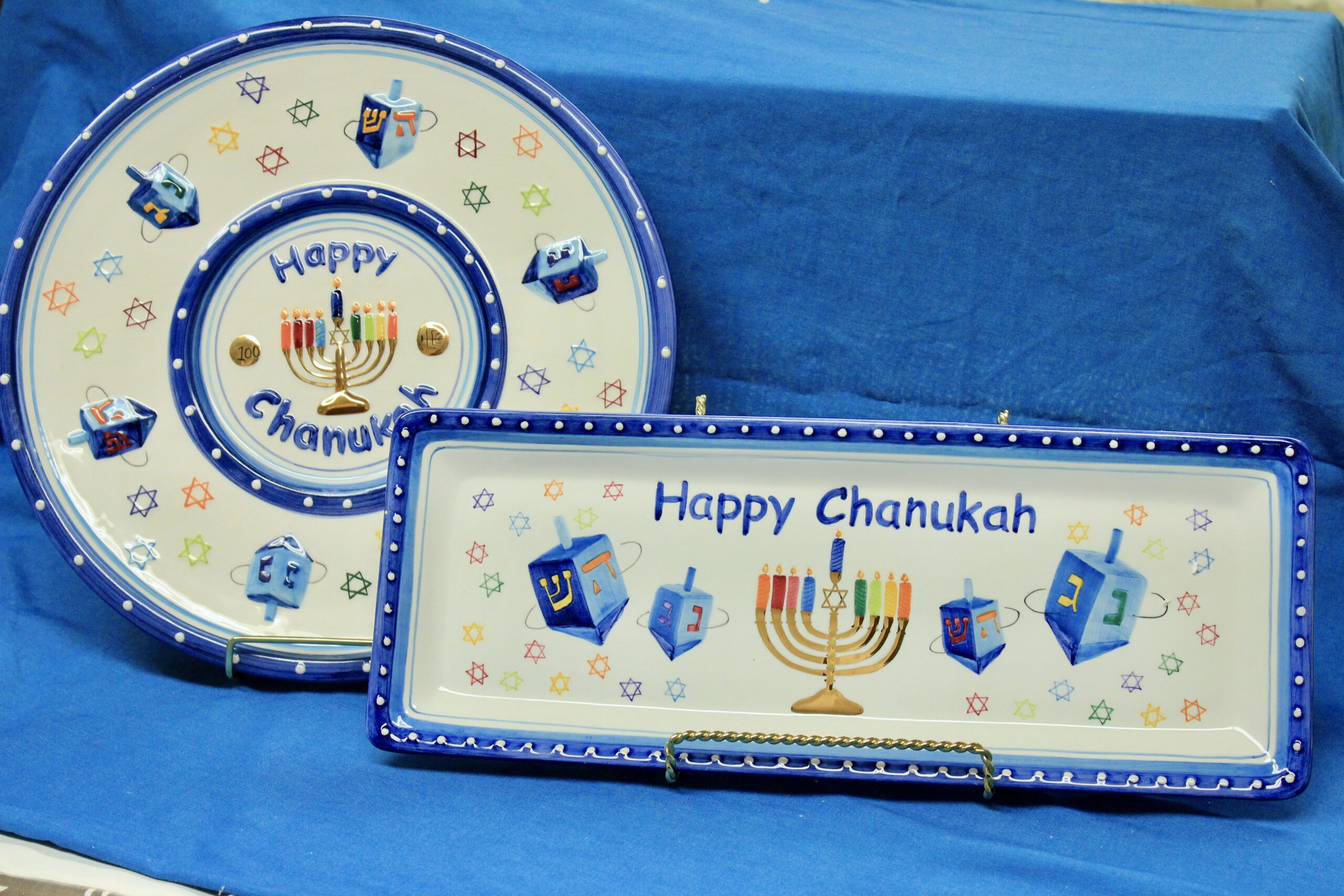 Hanukkah Platter and Tray Set $35
