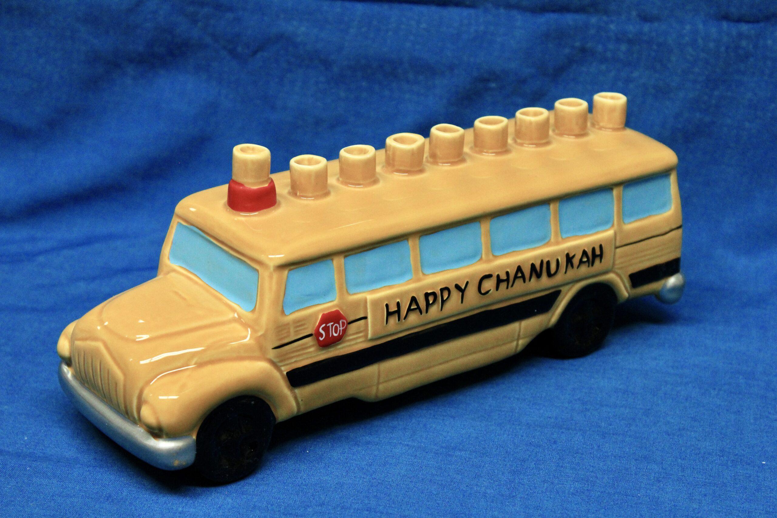 School Bus Menorah $22